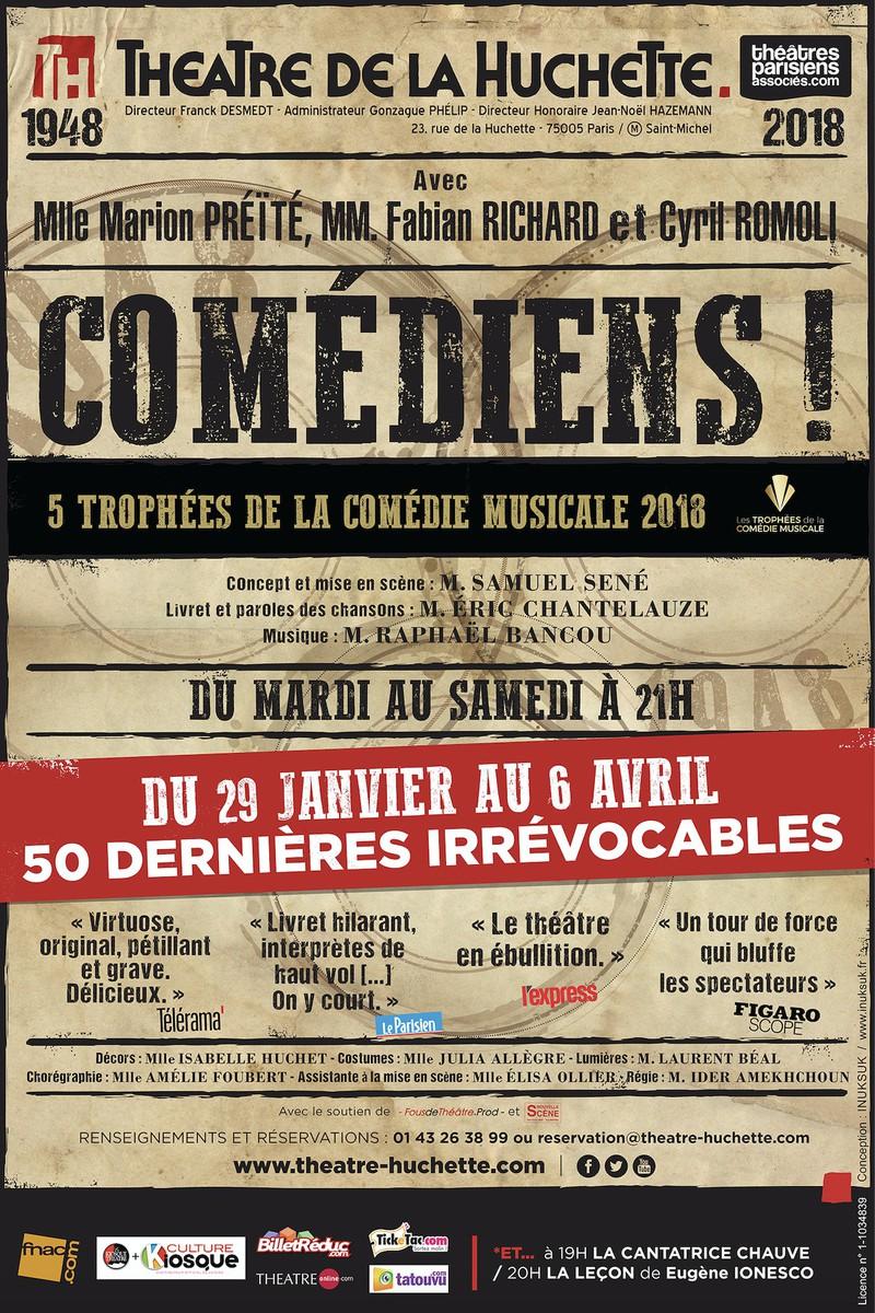 Comediens Au Theatre De La Huchette