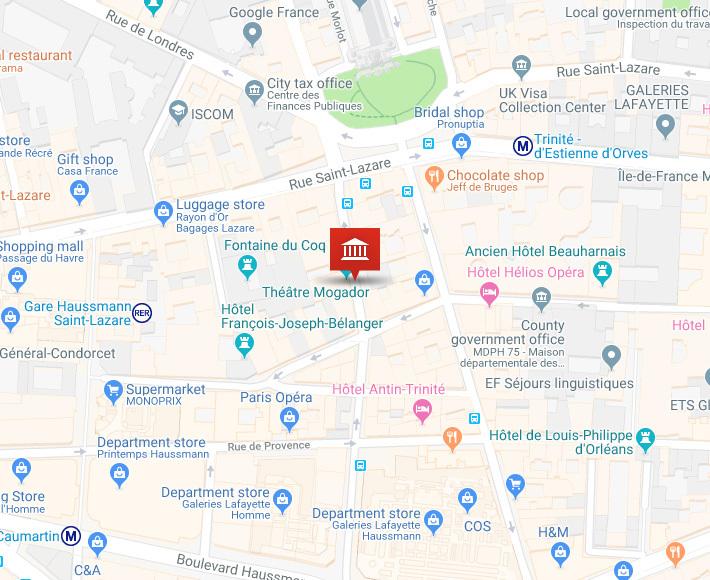 Calendrier Garde Classique 2019 Zone B.Theatre Mogador A Paris Programmation Et Reservation